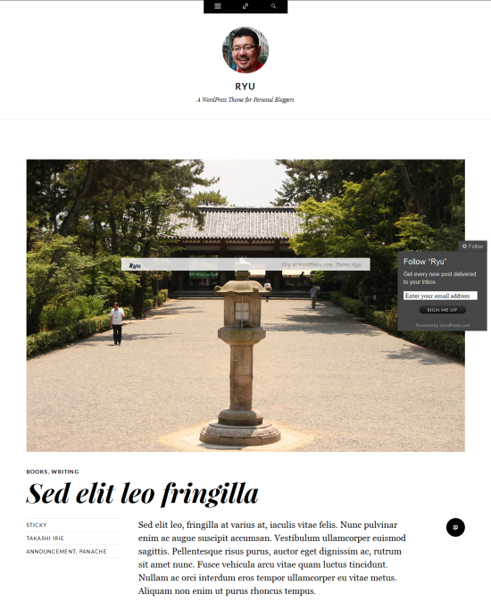 Ryu-Homepage