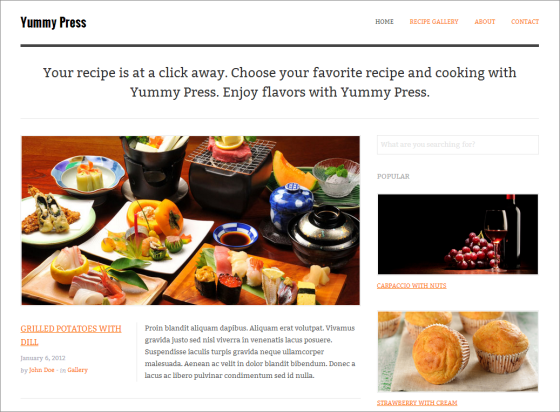 Yummy-Press-Site-Template