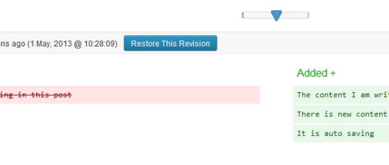 Revision Slider