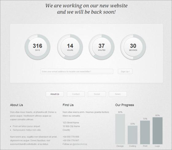 Circular-Countdown-Coming-Soon-WordPress-Theme