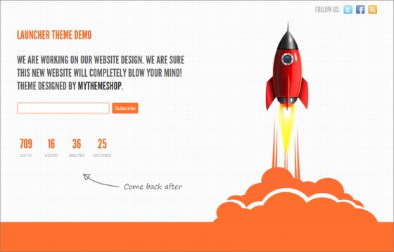 Launcher-Coming-Soon-WordPress-Theme