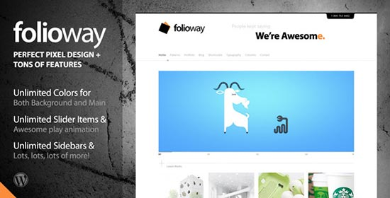 Foliowy-Wordpress-Theme