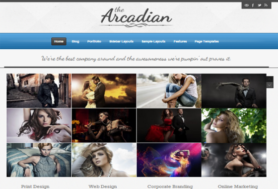 The Arcadian WordPress Theme