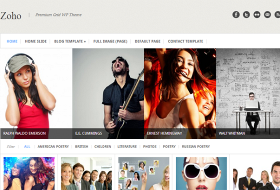 ZOHO WordPress Theme